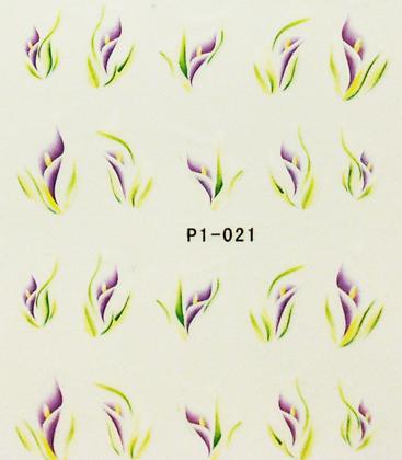 Wasserlösliche Sticker Blumen P1-021