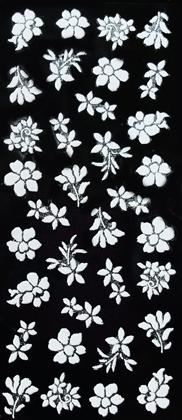 Sticker weiß Blumen mit Glitzer
