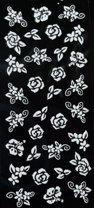 Sticker weiße Rosen mit Glitzer