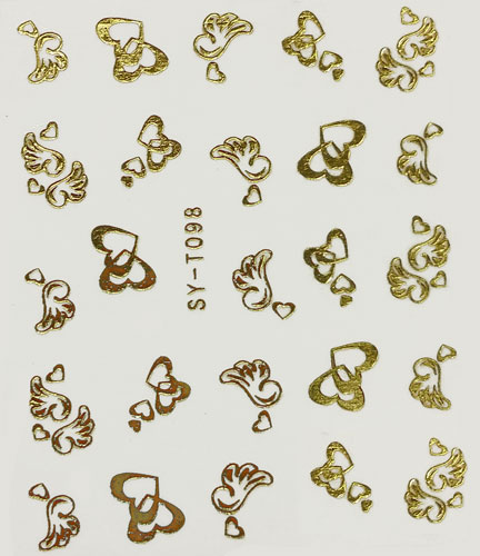 Sticker goldfarbige Motive