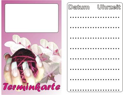 Terminkarten rosa 100er Pack