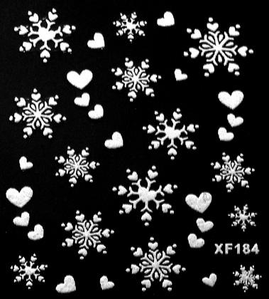 Sticker Schneeflocken weiss