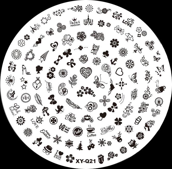 Stamping Schablone XY-Q21