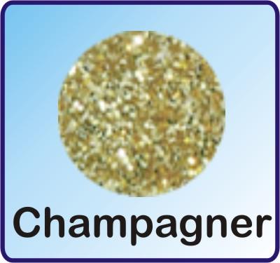 Glitter Nachfüllbeutel champagner 3g