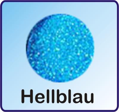 Glitter Nachfüllbeutel hellblau 3g