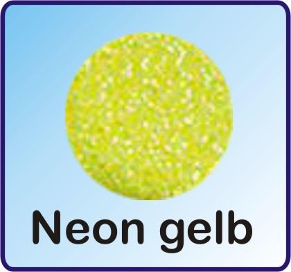Glitter Nachfüllbeutel neon gelb 3g