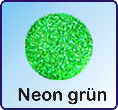 Glitter Nachfüllbeutel neon grün 3g