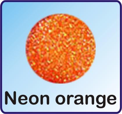 Glitter Nachfüllbeutel neon orange 3g