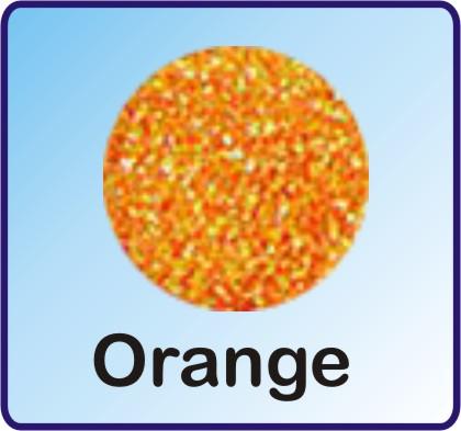 Glitter Nachfüllbeutel orange 3g