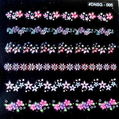 Selbstklebende Sticker Blumenranken DNSG-05