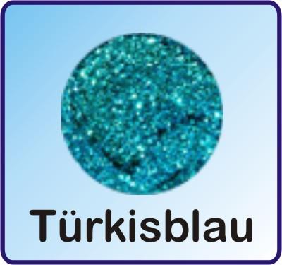 Glitter Nachfüllbeutel Türkisblau 3g