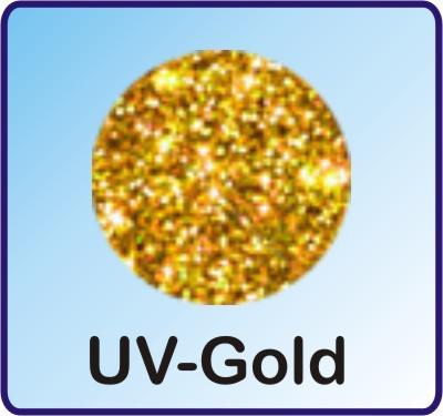 Glitter Nachfüllbeutel UV-Gold 3g