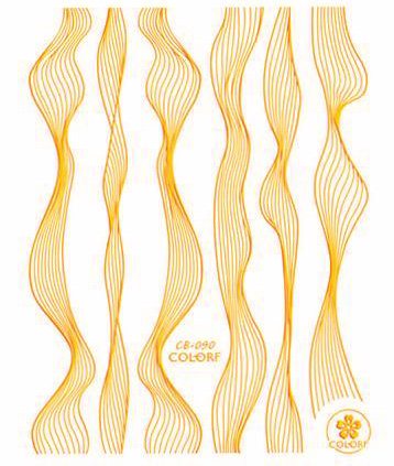 Sticker Lace gold metal strips Wave line