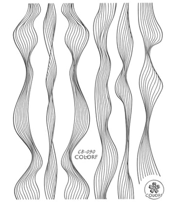 Sticker Lace silber metal strips Wave line