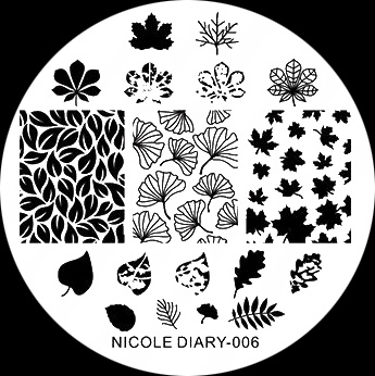 Stamping Schablone Nicole Dairy 006