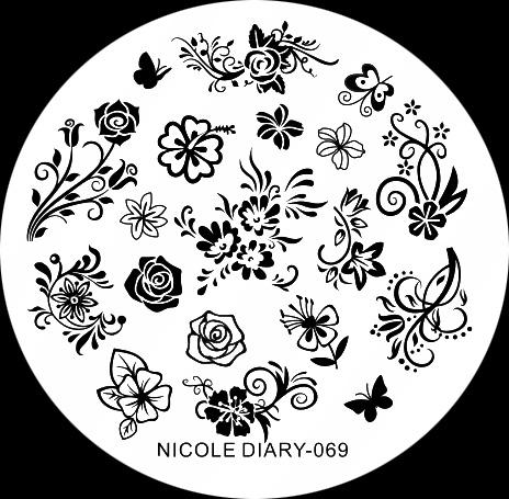 Stamping Schablone Nicole Dairy 069