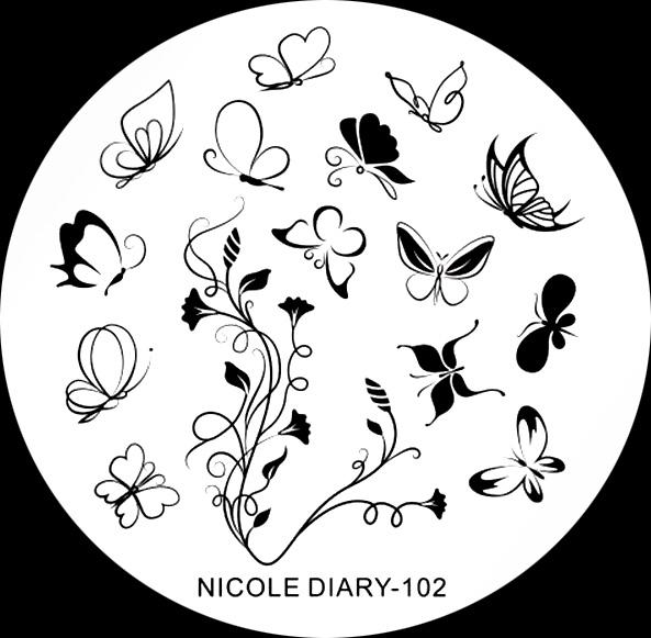 Stamping Schablone Nicole Dairy 102