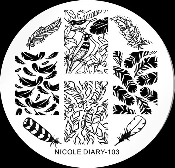 Stamping Schablone Nicole Dairy 103