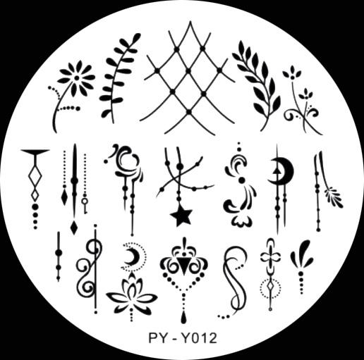Stamping Schablone PY-Y012