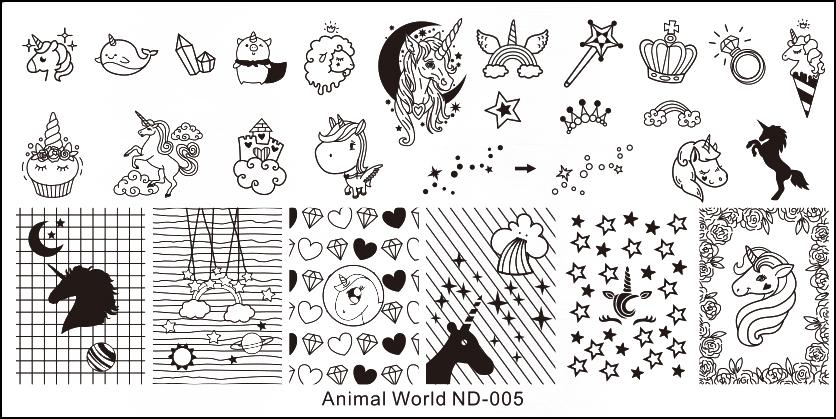 Stamping Schablone Animal World ND-005