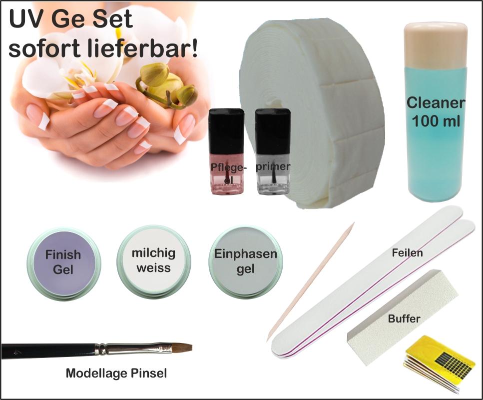 UV Gel Modellage Set, Starter Set Gel, Anfänger Set