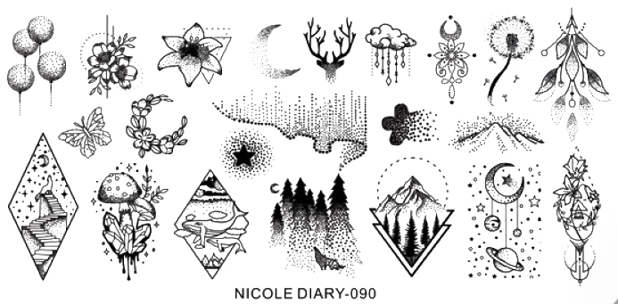 Stamping Schablone Nicole Diary 090