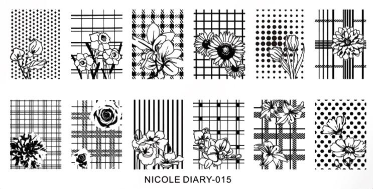 Stamping Schablone Blumengitter Nicole Diary 015