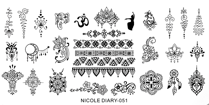 Stamping Schablone Nicole Diary 051