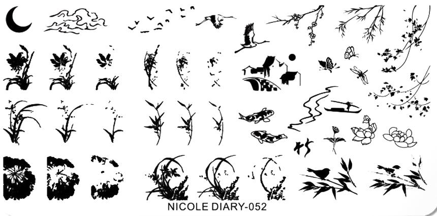 Stamping Schablone Pflanzen Nicole Diary 052