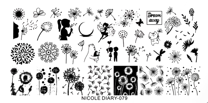 Stamping Schablone Pusteblumen Nicole Diary 079