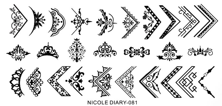 Stamping Schablone eckige Ornamente Nicole Diary 081
