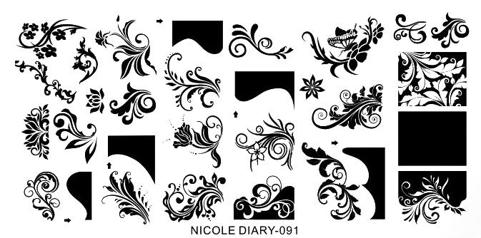 Stamping Schablone Nicole Diary 091 Ornamente