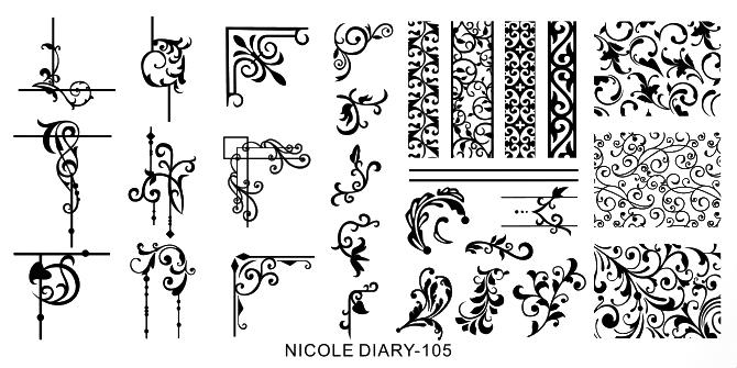 Stamping Schablone Ornamente Nicole Diary 105