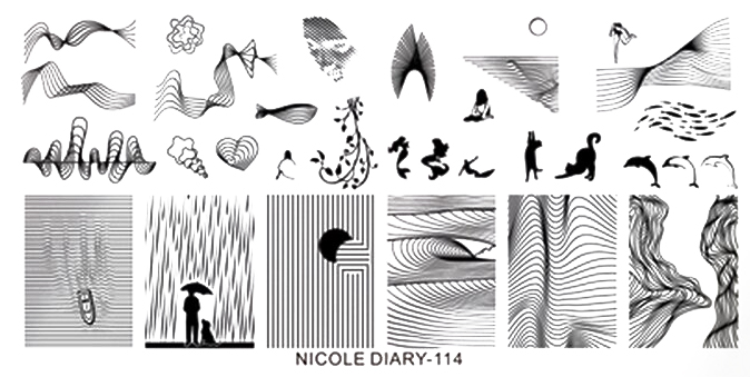 Stamping Schablone Nicole Diary 114