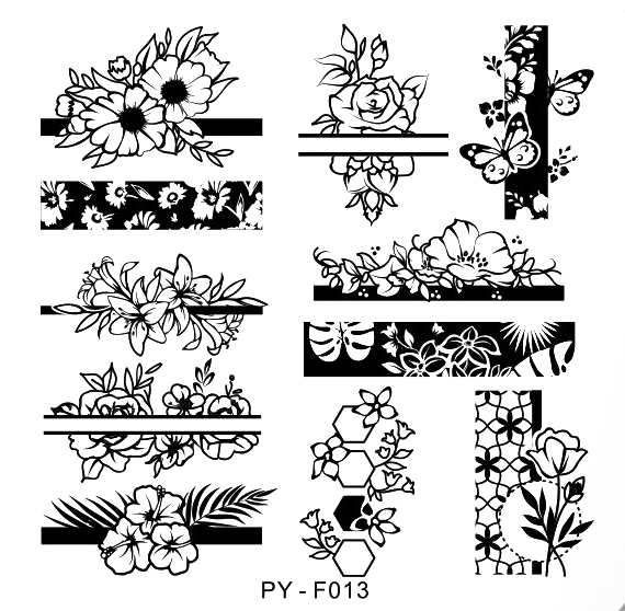 Stamping Schablone PY-F013