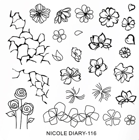 Stamping Schablone Nicole Diary 116