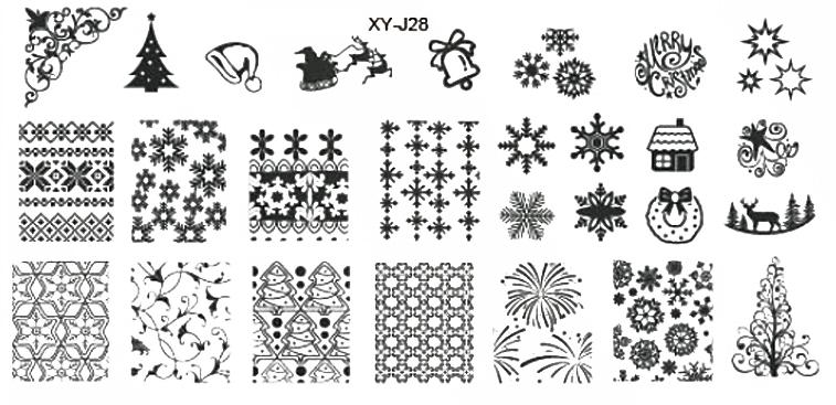 Stamping Schablone XY-J28 Weihnachten Winter