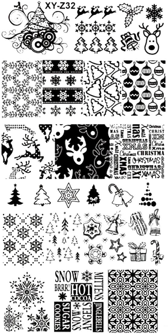 Stamping Schablone XY-Z32 Weihnachten