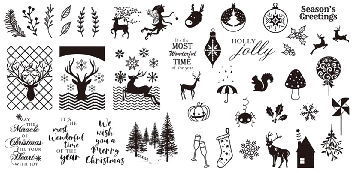 Stamping Schablone XY02 Weihnachten