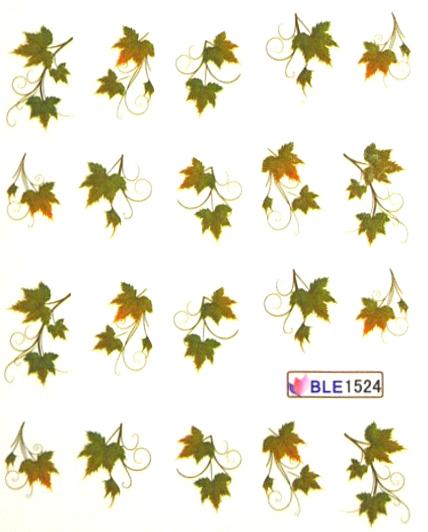 Wasserlösliche Sticker Herbstblätter BLE-1524