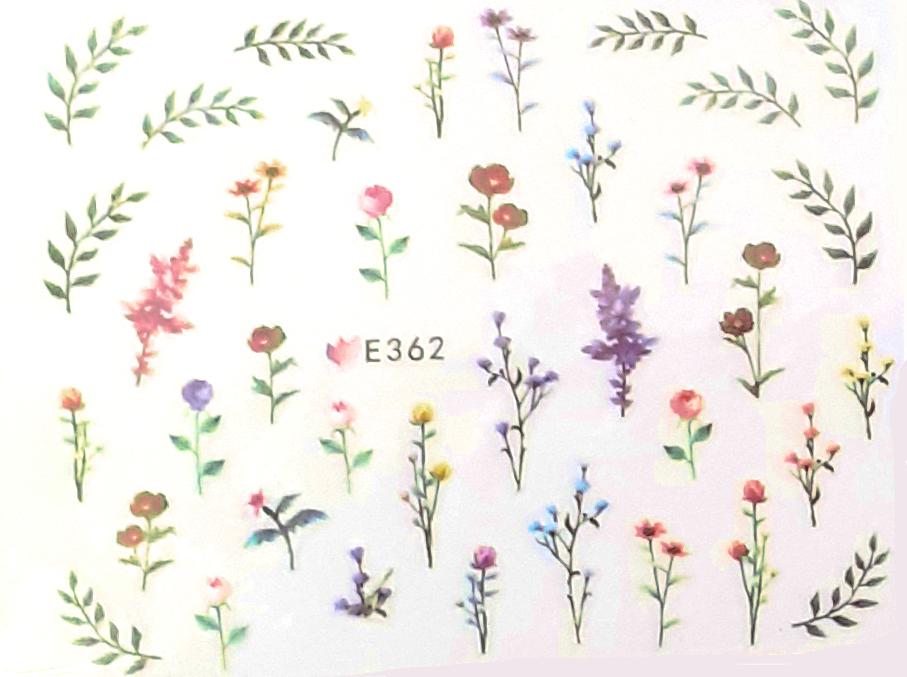 Selbstklebende Sticker Frühling E-362