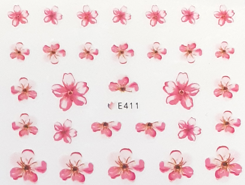 Sticker Blumen E-411 rosa