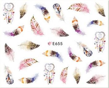 Selbstklebende Sticker Federn E-665