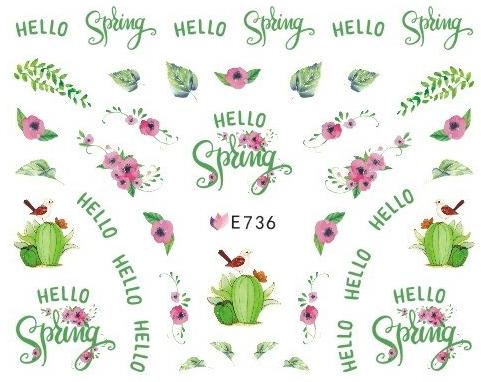 Selbstklebende Sticker Blätter E-736 Frühling