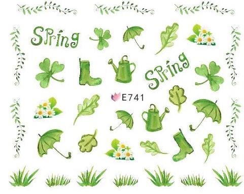 Selbstklebende Sticker Blätter E-741 Frühling