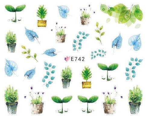 Selbstklebende Sticker Frühling E-742
