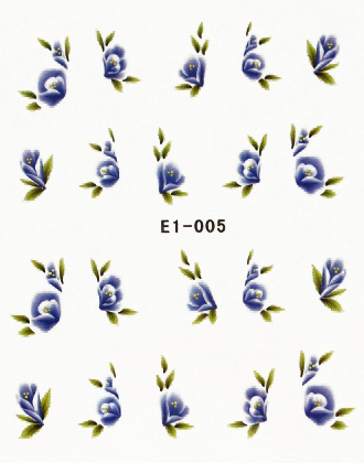 Wasserlösliche Sticker Blumen E1-005