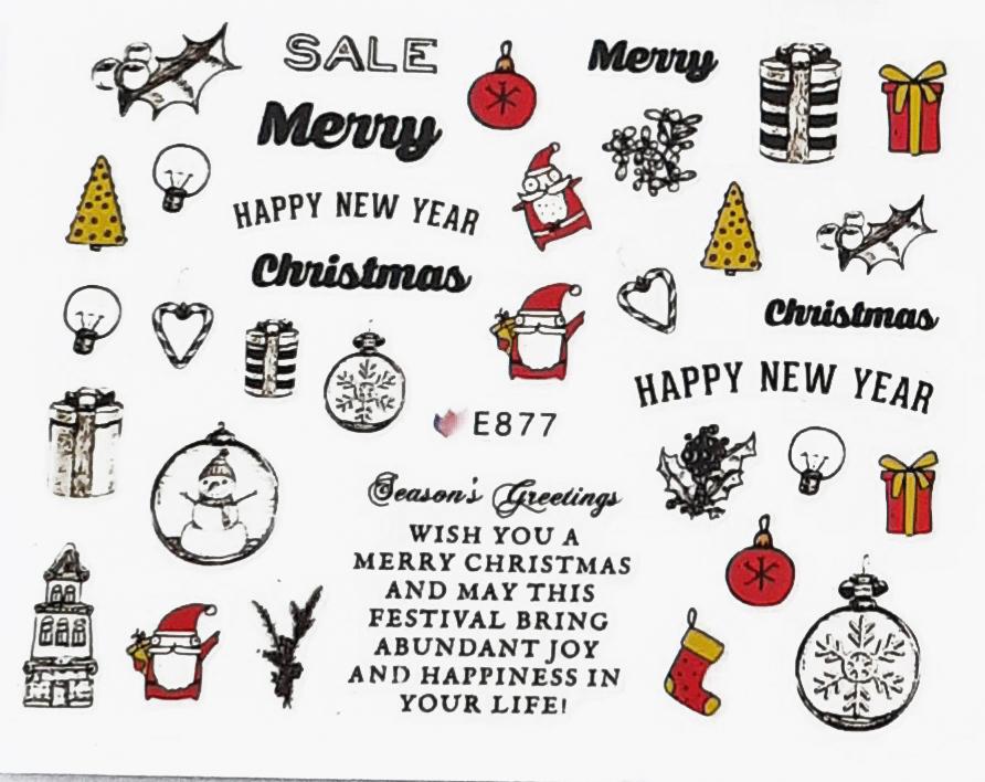 Sticker Weihnachten selbstklebend E877
