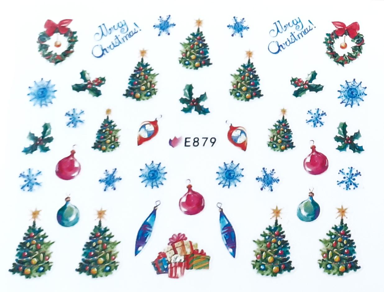 Sticker Weihnachten selbstklebend E879