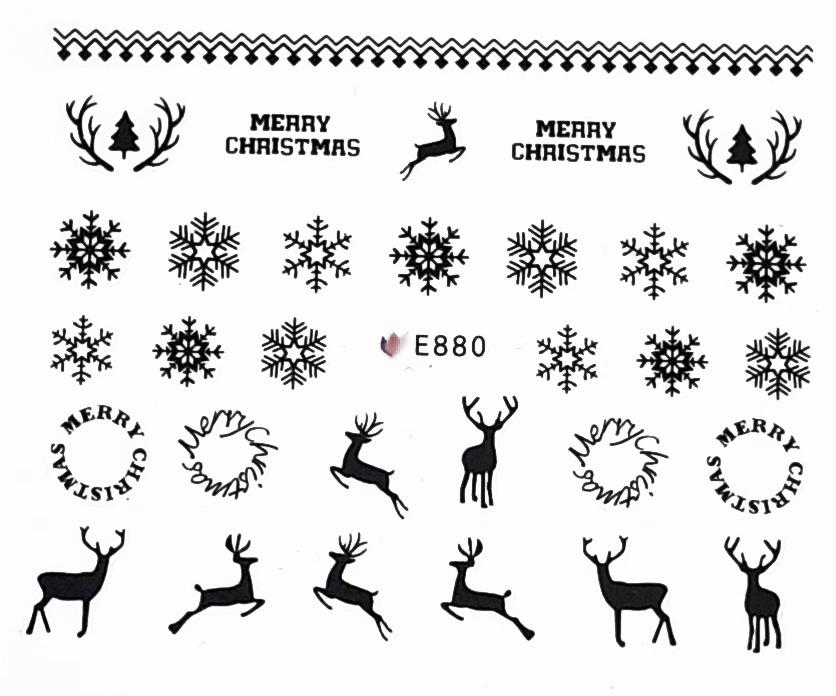 Sticker Weihnachten selbstklebend E880